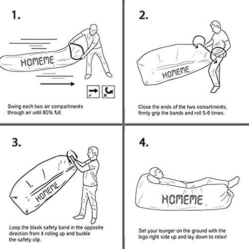 canap/é portable waterproof Chaise longue gonflable canap/é ext/érieur ou int/érieur pour le camping SHUAILV