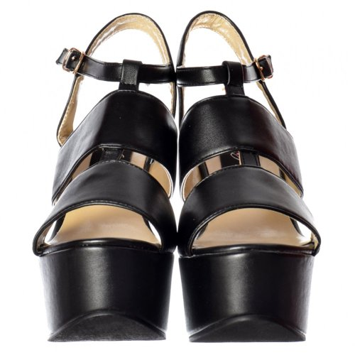 Pu Peep Lati Onlineshoe Di Tenuta Metã Bianco Tacco Sandalo Slitte Donna Nero Nero In Tagliare Toe Argento qwwZXUxC