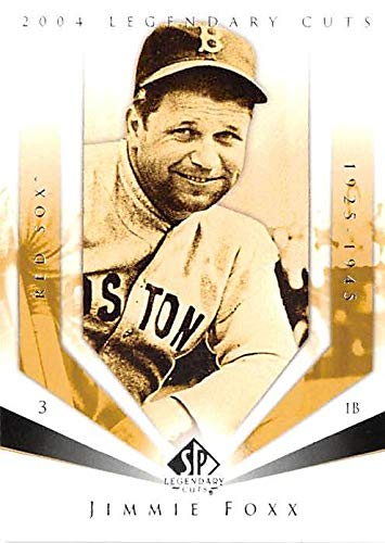 Jimmie Foxx Baseball Card Boston Red Sox 2004 Upper Deck