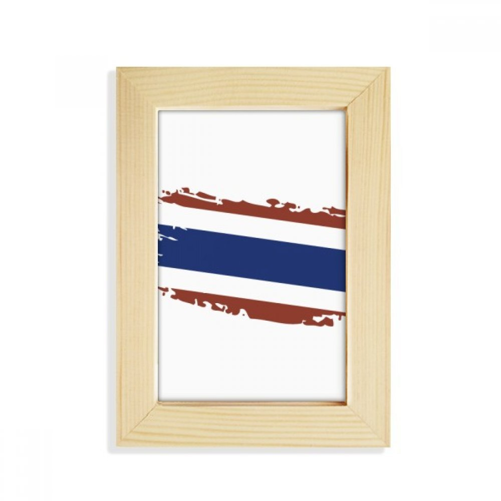 DIYthinker Thai Bangkok Thailand Flag Art Illustration Desktop Wooden Photo Frame Picture Art Painting 5x7 inch by DIYthinker