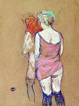Posterlounge Forex 60 x 80 cm: Two Half-Naked Women di Henri de Toulouse-Lautrec
