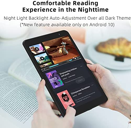Tablet 8-Inch Android 10.0 – Winnovo M8 Quad Core Processor 32GB Storage HD IPS Display Gravity Sensor Bluetooth WiFi GPS FM (Black) 51VeqKOT2dS