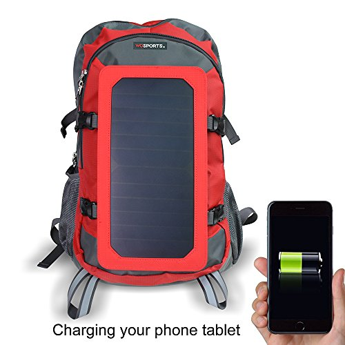 Wosports Charger Backpack Waterproof Camping