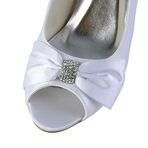 Kevin Fashion - Zapatos con tacón mujer, color Blanco, talla 43 EU