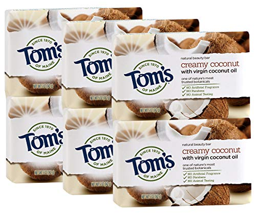 - Tom's of Maine Natural Beauty Bar, Coconut, 1.35 Ounce (Pack Of 6)