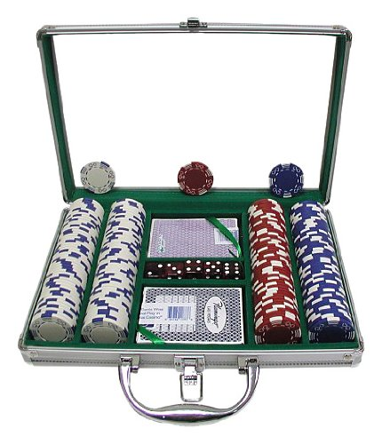 Trademark 200 Royal Suited 11.5g Chips with Clear Cover Aluminum Case (Silver) (Chips Royal 11.5g Suited)