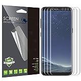 Samsung Galaxy S8Protector de visualización (Caso Friendly), LK [plena cobertura] Pet Soft TPU flexible en película Con garantía Reemplazo de por vida, Paquete de 3