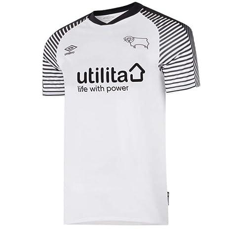 laag geprijsd de verkoop van schoenen diverse stijlen Umbro 2019-2020 Derby County Home Football Soccer T-Shirt ...