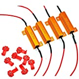 #1: 4 Pcs Eyourlife 50W 6ohm Load Resistors LED Turn Signal Indicator Lights for Fixing Hyperflash with Quick Wire Clips