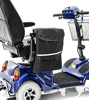 Premium Large ARMREST BAG for Power Medical Scooter: Golden, Drive, Merits, Shoprider, Pride, Go-Go, Challenger Mobility J250