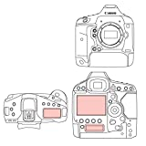 Martin Fields Overlay Plus Screen Protector with Advanced Glass Hard Coating for Canon EOS 1D X Mark II - Includes Top LCD and Secondary LCD Protectors