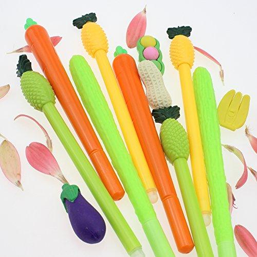 Cute Cartoon Bitter Gourd Ballpoint Pen,Carrot And Pineapple Shape Gel Ink Pen