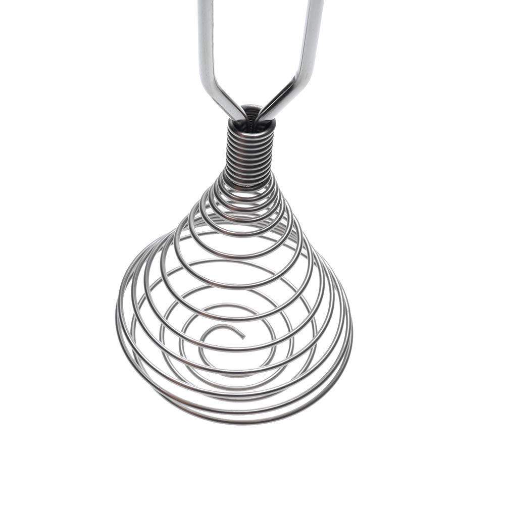 NAOAO Stainless Steel Spring Coil Whisk Egg Beater Wire Whip Cream Blender Cooking Kitchen Utensil Tool