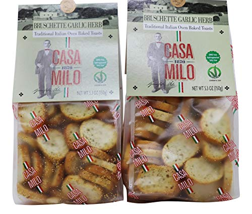 (Casa Milo- Bruschette Traditional Italian Oven Baked Garlic Herb Toasts)