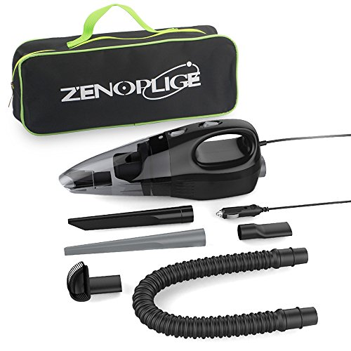 Great Features Of Zenoplige Car Vacuum Cleaner DC12 Volt Portable Handheld Auto Vacuum With Carry Ba...