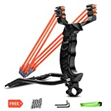 UCHO Professional Slingshot Set,Y Shot Slingshot,wrist rocket slingshot hunting,with 2 High Velocity Capatult 3-band Rubber Band (100 ammo) Powerful Accurate Shooting Outdoor Hunting Accessories