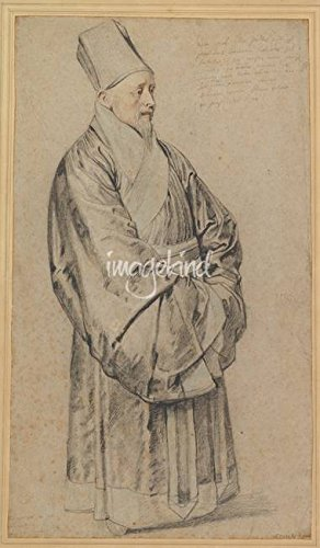 Wall Art Print entitled Portrait Of Nicolas Trigault In Chinese Costume , by Celestial Images | 19 x (Chinese Costumes Images)