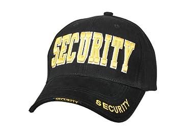 Guardia de seguridad oficial oro negro uniforme patrulla deber de béisbol gorro gorra se adapta a todos los: Amazon.es: Deportes y aire libre