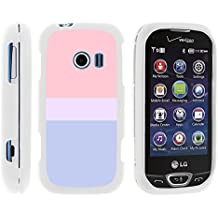 LG Extravert 2 Phone Cover, Lightweight Snap On Armor Hard Case with Cute Design Collage for LG Extravert 2 VN280 (Verizon) by MINITURTLE - Color Block - Sunset Pastel