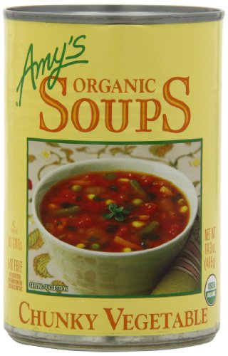 Fat Free Soup - Amy's Organic Chunky Vegetable Soup, Low Fat, 14.3-Ounce (Pack of 12)