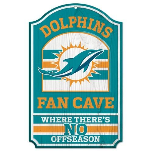 WinCraft NFL Miami Dolphins 05494013 Wood Sign, 11
