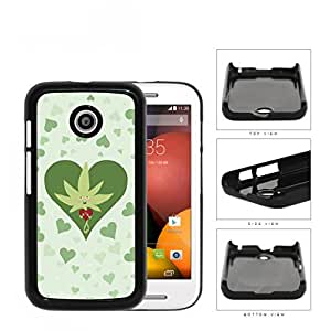 Weed Leaf Valentine And Green Hearts Hard Plastic Snap On Cell Phone Case Motorola Moto E