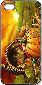 iPhone 4/4s Case,Thanksgiving-Food Case for iPhone 4 4s with Black Side