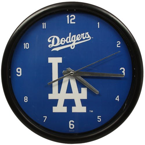 The Memory Company MLB Los Angeles Dodgers Official Black Rim Basic Clock, Multicolor, One Size from The Memory Company