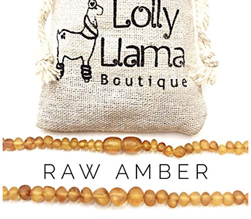 Adult Raw Baroque Baltic Amber Necklace - All Natural Pain Relief for Adults to Help Migraines, Sinus, Arthritis and More! - Honey (22 Inches)