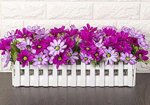 Lcoran Flores Artificiales Los Tulipanes Macetas Valla