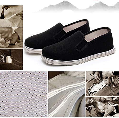 ユニセックスカンフーマーシャルアーツシューズ少林寺の修道士の靴綿太極拳武術スニーカー手作りblack-43