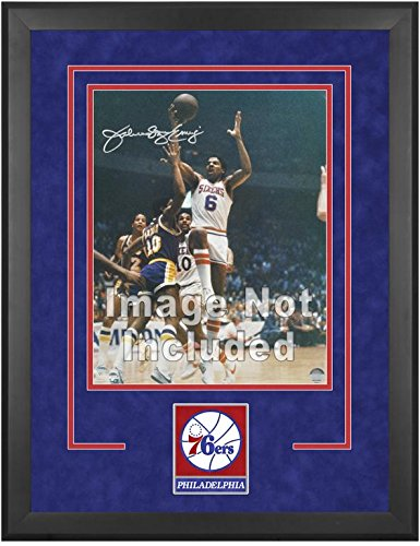 Philadelphia 76ers Deluxe 16'' x 20'' Frame - Fanatics Authentic Certified - NBA Other Display Cases by Sports Memorabilia