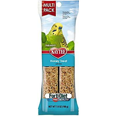 Kaytee Forti-Diet Pro Health Honey Bird Treat Sticks for Parakeets, 7-Ounce from Kaytee
