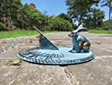 Brass Decorative Rabbit Sundial 10'' Inches Wide