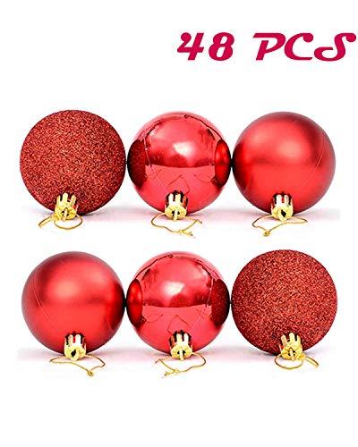 DEEBF 48 PCS 1.57 inch Christmas Ball Ornaments,Shatterproof Christmas Decorations,Christmas Decorations Tree Balls,Party Ornament Decorations,Holiday Xmas Garden Decorations