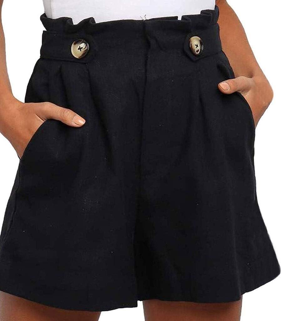 ZZYUBB Las Mujeres con Estilo Pantalones Cortos Negro Beige Fajas Cierre con Cremallera Bolsillos Hembra Ocasional Elegante Cortocircuitos Cuero De La PU