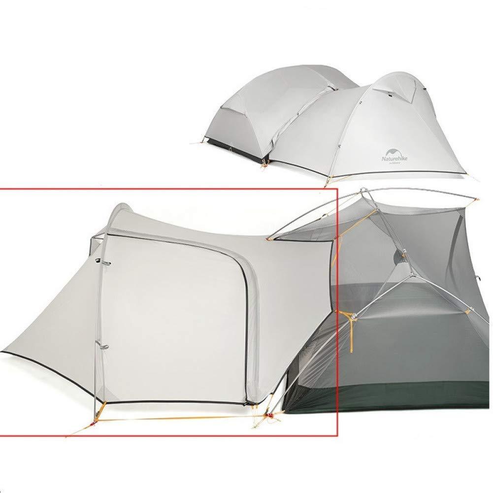 Sortie Udstyr, Tente Tente de Camping en Plein Air 2 3 Personnes Randonnée Anti-Pluie Double Hiver 3 Saisons, Kejing Miao, gris gris -