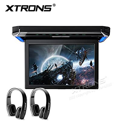 XTRONS 12.1 Inch 1080P Video Car Overhead Player Roof Mounted Monitor HDMI Port Black New V ersion IR Headphone: Car Electronics