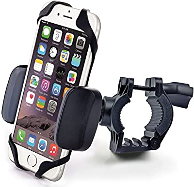 Bike & Motorcycle Cell Phone Mount - For iPhone 6 (5, 6s Plus), Samsung Galaxy Note or any Smartphone & GPS - Universal Mountain & Road Bicycle Handlebar Cradle Holder. +100 to Safeness & Comfort from CAW.CAR Accessories