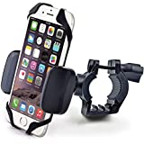 CAW.CAR Accessories Bike & Motorcycle Cell Phone Mount - For iPhone 6 (5, 6s Plus), Samsung Galaxy Note or any Smartphone & GPS - Universal Mountain & Road Bicycle Handlebar Cradle Holder. +100 to Safeness & Comfort