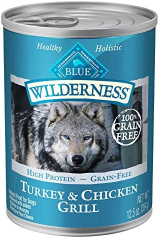 Blue Buffalo Wilderness High Protein Grain Free, Natural Adult Wet Dog Food, 12.5-oz cans Pack of 12