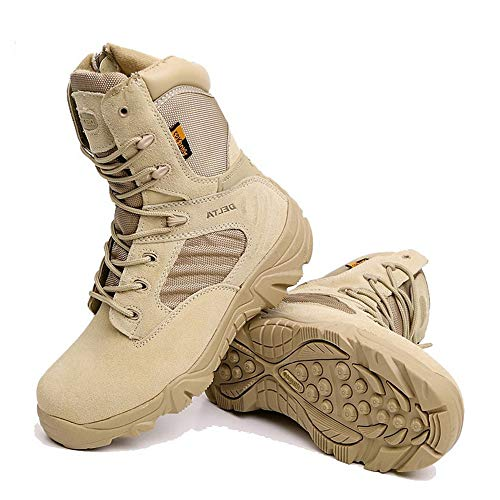 Dimensione antiscivolo Nero Stivali militari Climbing suola Naturale Soft Walking Desert 42 Jincosua Colore uomo EU da 7Tqzp