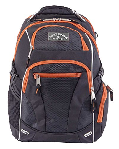 Harley-Davidson Renegade Steel Cable Lightweight Backpack Black 99206 RUST/BLACK by Harley-Davidson