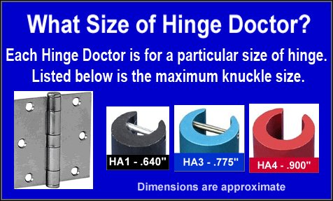 The Hinge Doctor HA1 and HA3 set. by Hinge Doctor