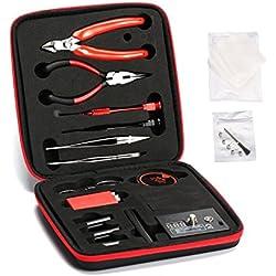 DIY Building Repair Tool Kit Coil Jig Tool Kit V2,14 Pieces General Household Tool Master kit/Organic Cotton/Ceramic Tweezers (Building Kit)