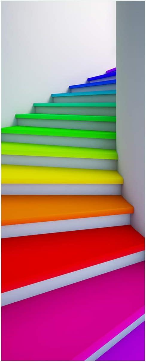 Bunte Farben Abwegen bunt Wallario Leinwandbild 30 x 75 cm Farbklecks links