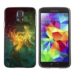 KOKO CASE / Samsung Galaxy S5 SM-G900 / modelo del arte universo colorido geométrico / Delgado Negro Plástico caso cubierta Shell Armor Funda Case Cover