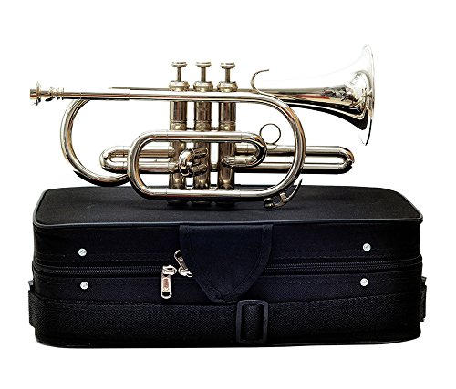 Cornet B Flat Nickel Plated With M/P & Bag Free by Chopra (Image #2)