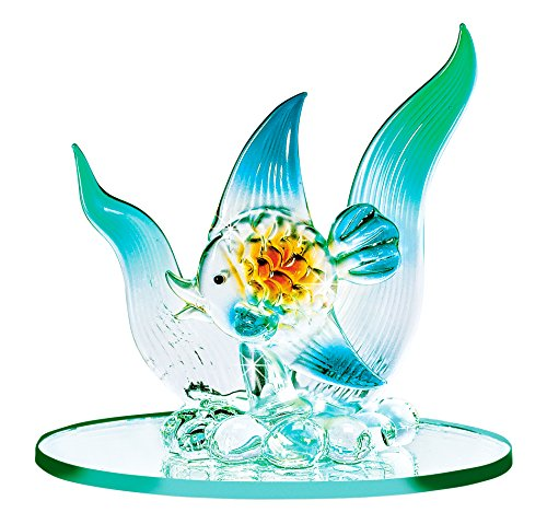 The Paragon Blown Glass Fish - Miniature Fish Figurine Collectible, Handmade Ornament, Lampwork Figure