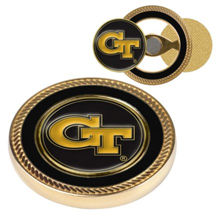 Georgia Tech Yellow Jackets Challenge Coin with Ball Markers (Set of (Georgia Coin Set)